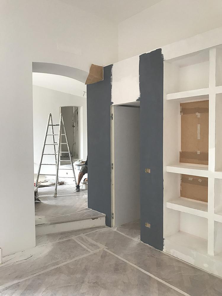 ristrutturazione appartamento in salita santa caterina_genova_cantiere_ingresso